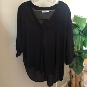 Black pullover blouse